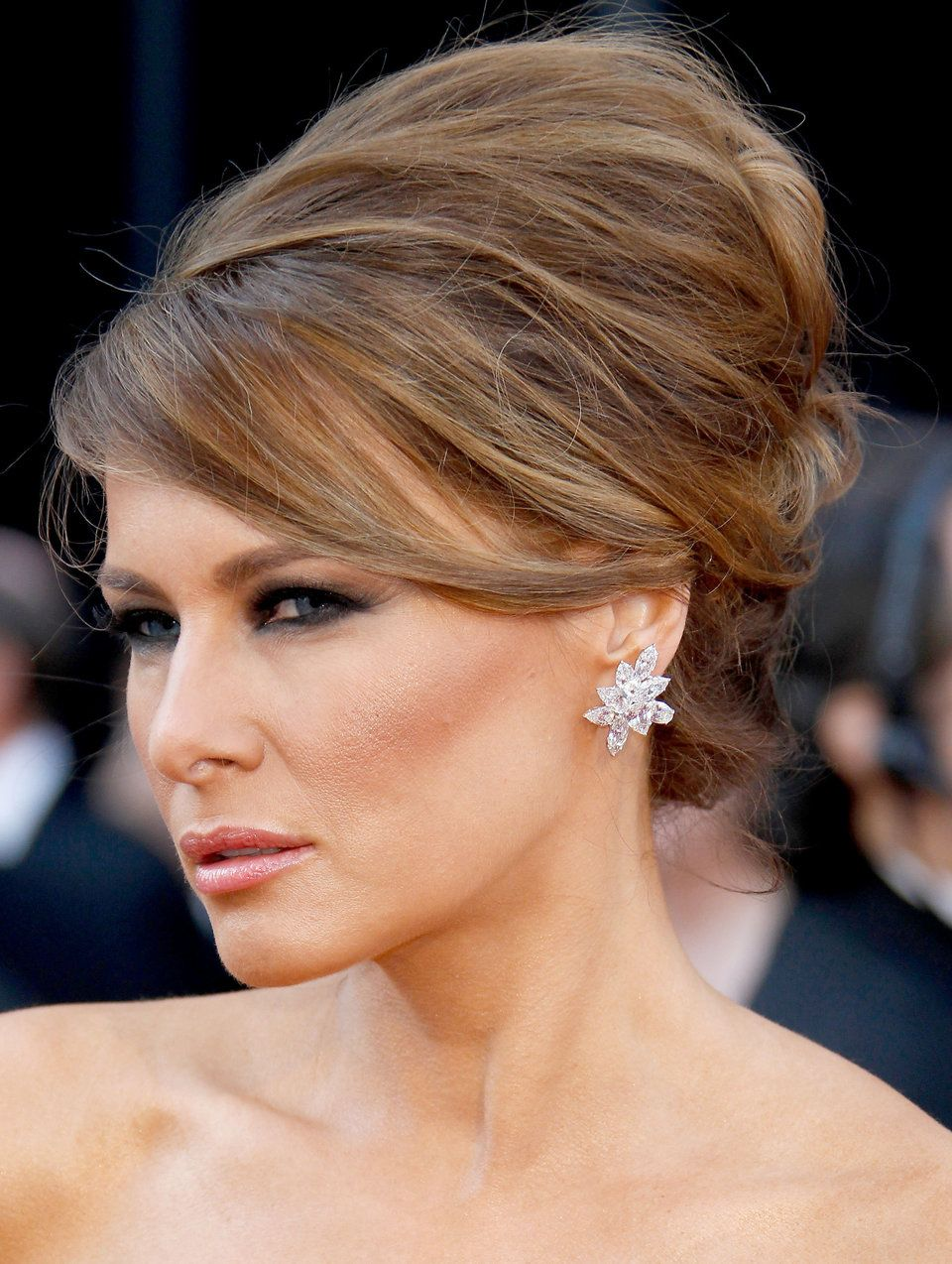 Melania Trump Has Nailed The Same Facial Expression In Every Photo For 17 Years Huffpost Life First Lady Melania Trump Trump Hair Melania Knauss Trump