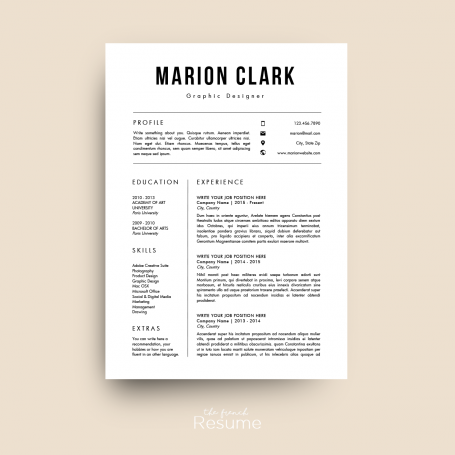 Modern Simple And Design Cv  HttpLuvlyCoItemsModern
