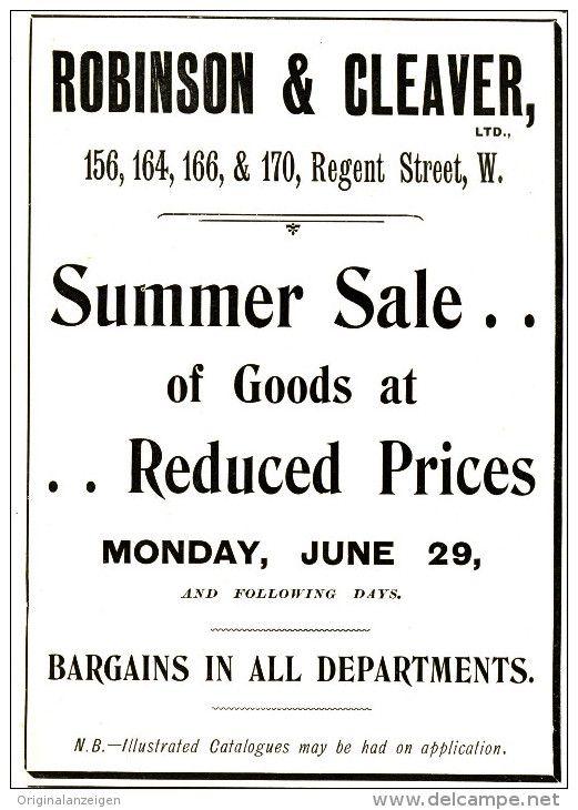 Original Anzeige Advertise 1903 English Robinson Cleaver