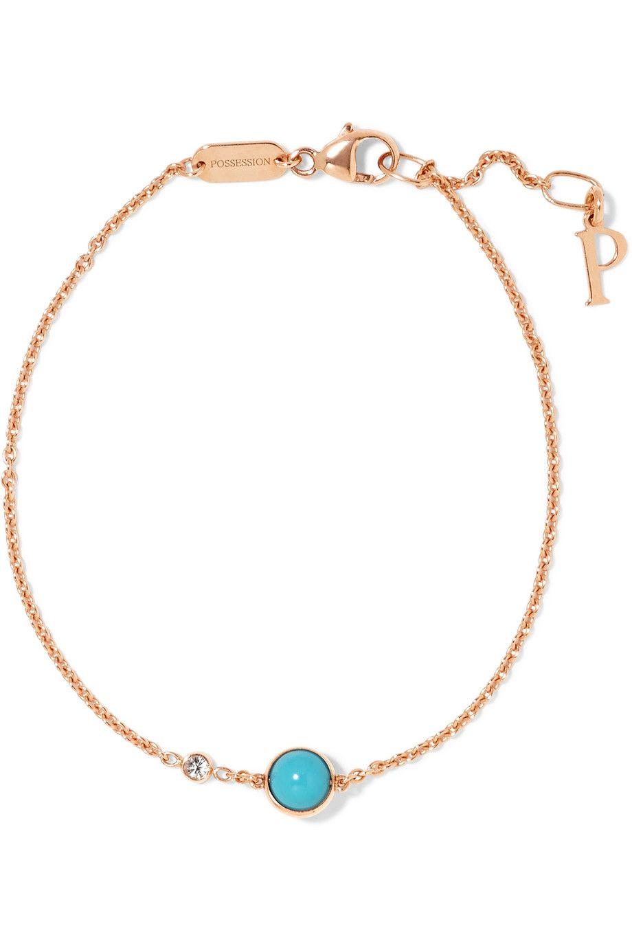 Piaget possession karat rose gold turquoise and diamond