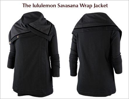 lululemon  wrap jacket savasana wrap clothes design