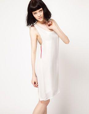 Enlarge Just Female Vest Dress with Neon Zip