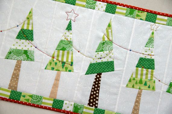 Christmas Tree Table Runner Pattern- Etsy