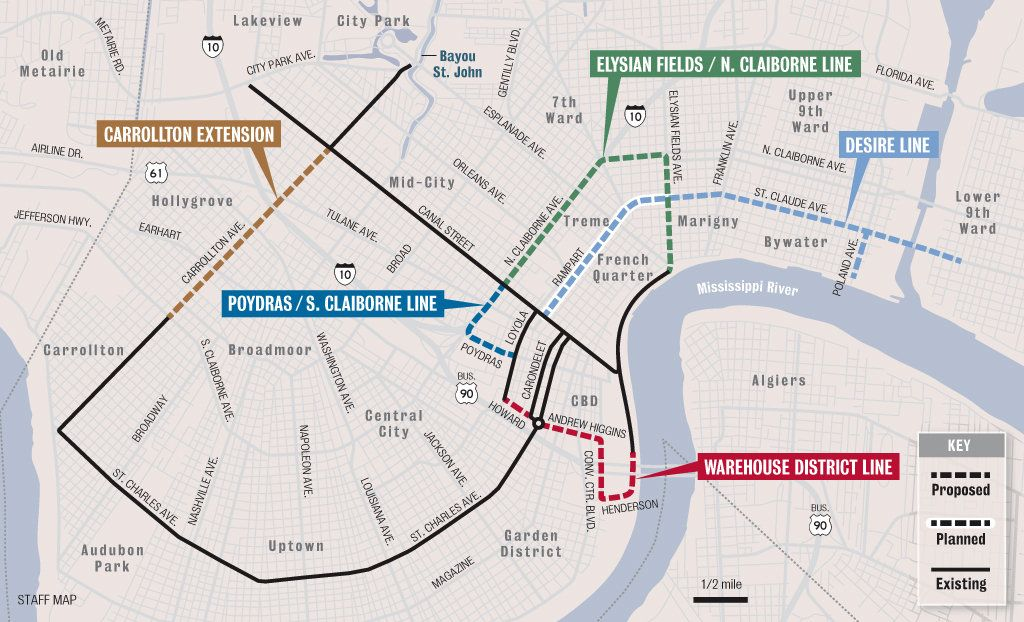 street car map of new orleans New Orleans Streetcar System Could See Major Expansion Should street car map of new orleans