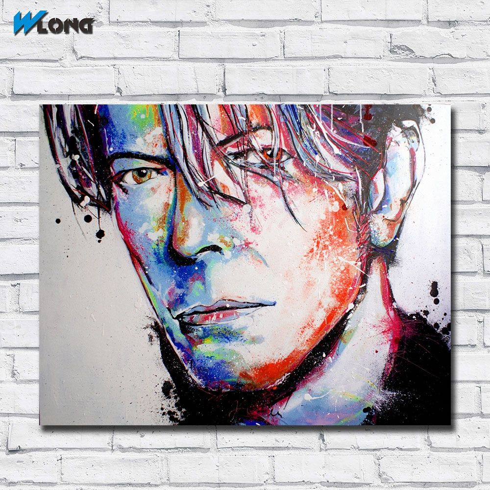 Universe of goods buy fashion printing graffiti art bowie canvas wall pictures for living room office bedroom modern canvas wall art oil painting for