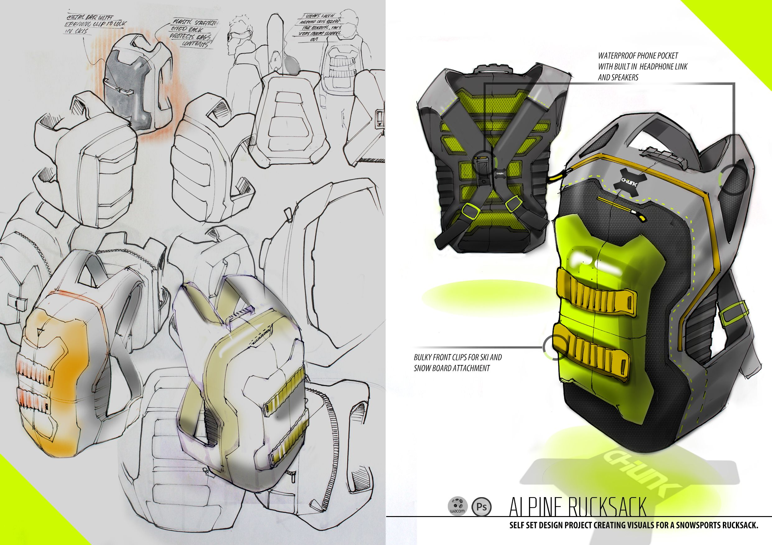 backpack rucksack industrial design concept ideation