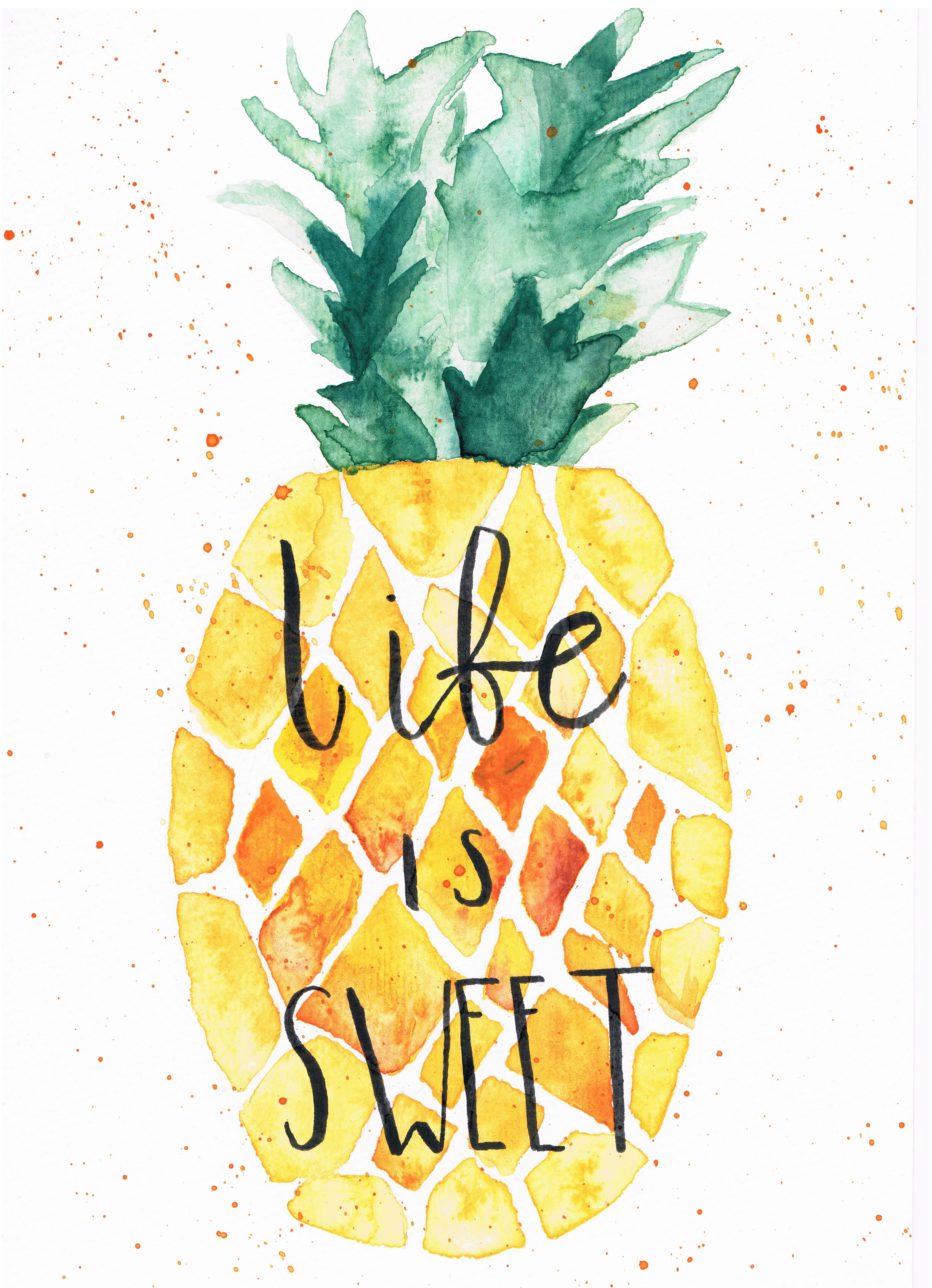 Life Is Like A Pineapple Sometimes It S Sweet Sometimes It S Sour Pineapple Wallpaper Pineapple Art Cute Wallpapers