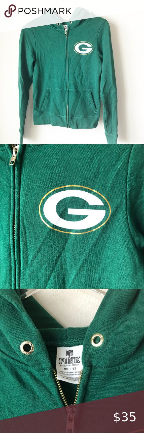 Pink Green Bay Packers Zip Up Hoodie In 2020 Zip Ups Pink And Green Hoodies