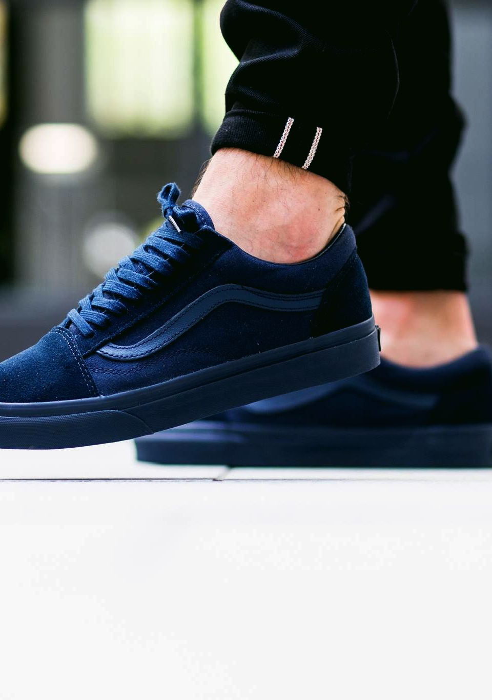 vans old skool mono dress blue
