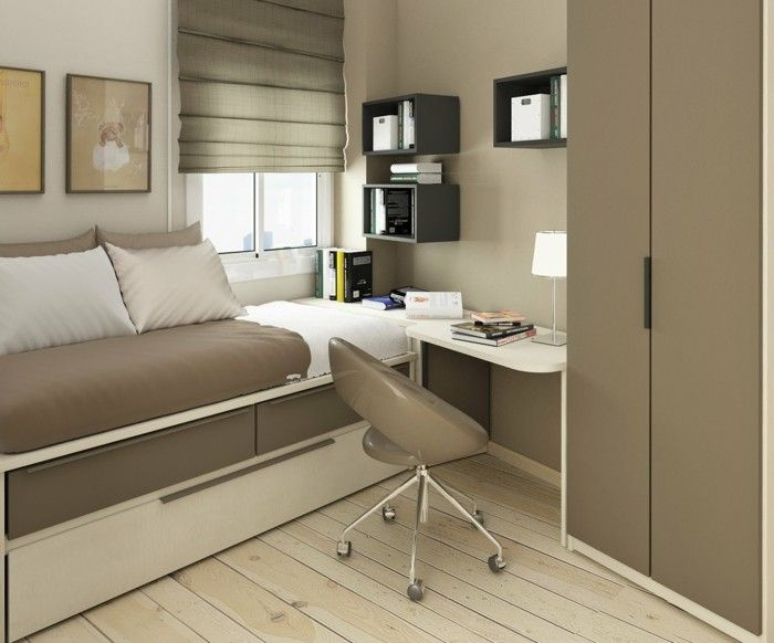 Einrichtungsideen Kleine Räume In Beiger Farbe