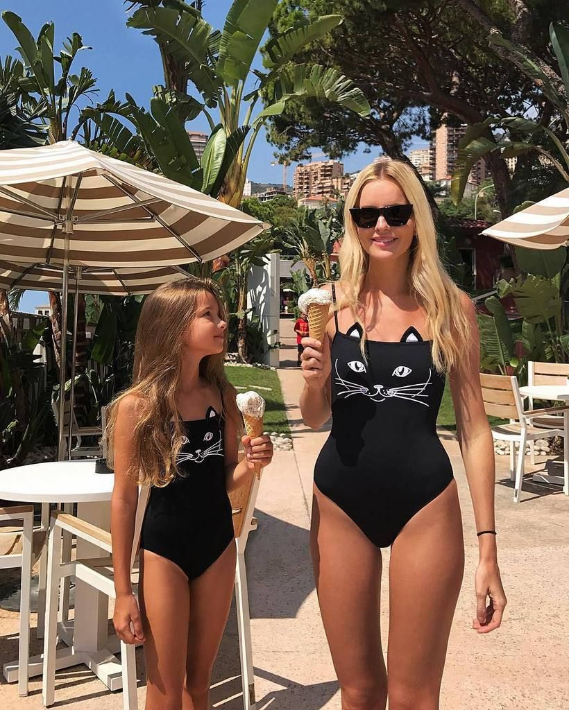 ab762a143f1 Family Matching Mother Daughter Cute Cat Design Swimsuit | Bikinis ...