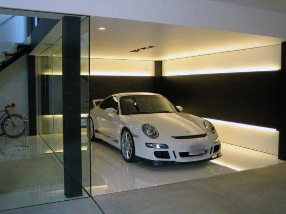 large garage lighting ideas | 50 Garage Lighting Ideas For Men - Cool Ceiling Fixture ...