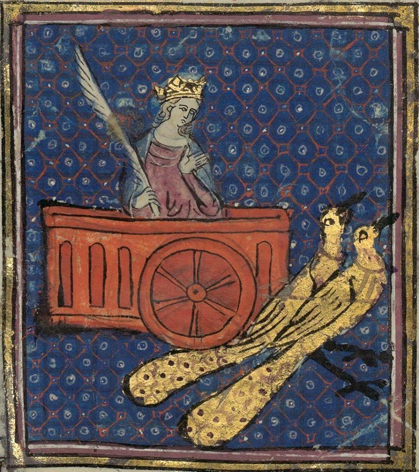 Junon sur son char : http://gallica.bnf.fr/ark:/12148/btv1b525031179/f37.image