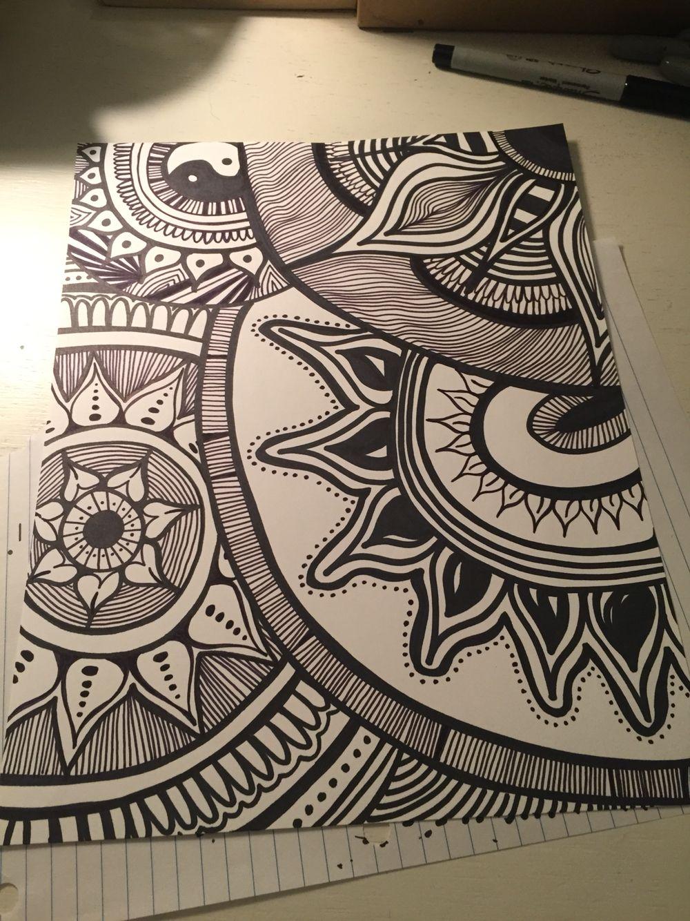 Caroline wyckoffs art mandala drawing mandala art