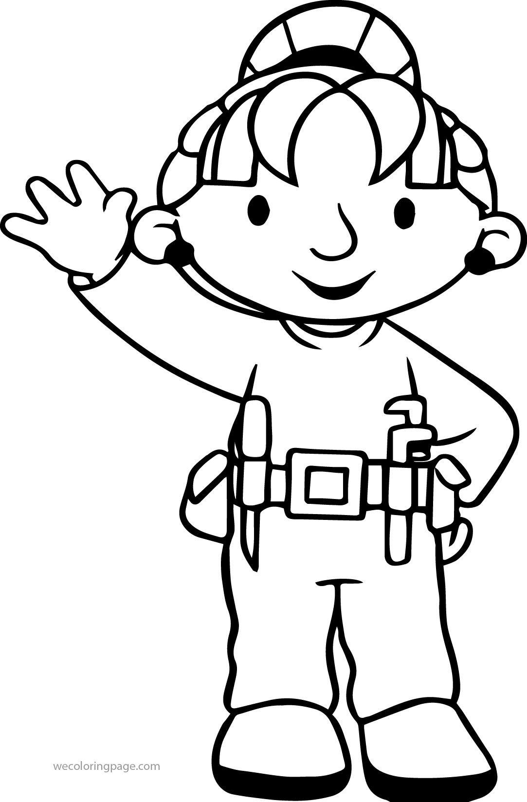 Nice Bob The Builder Wendy Hello Coloring Page
