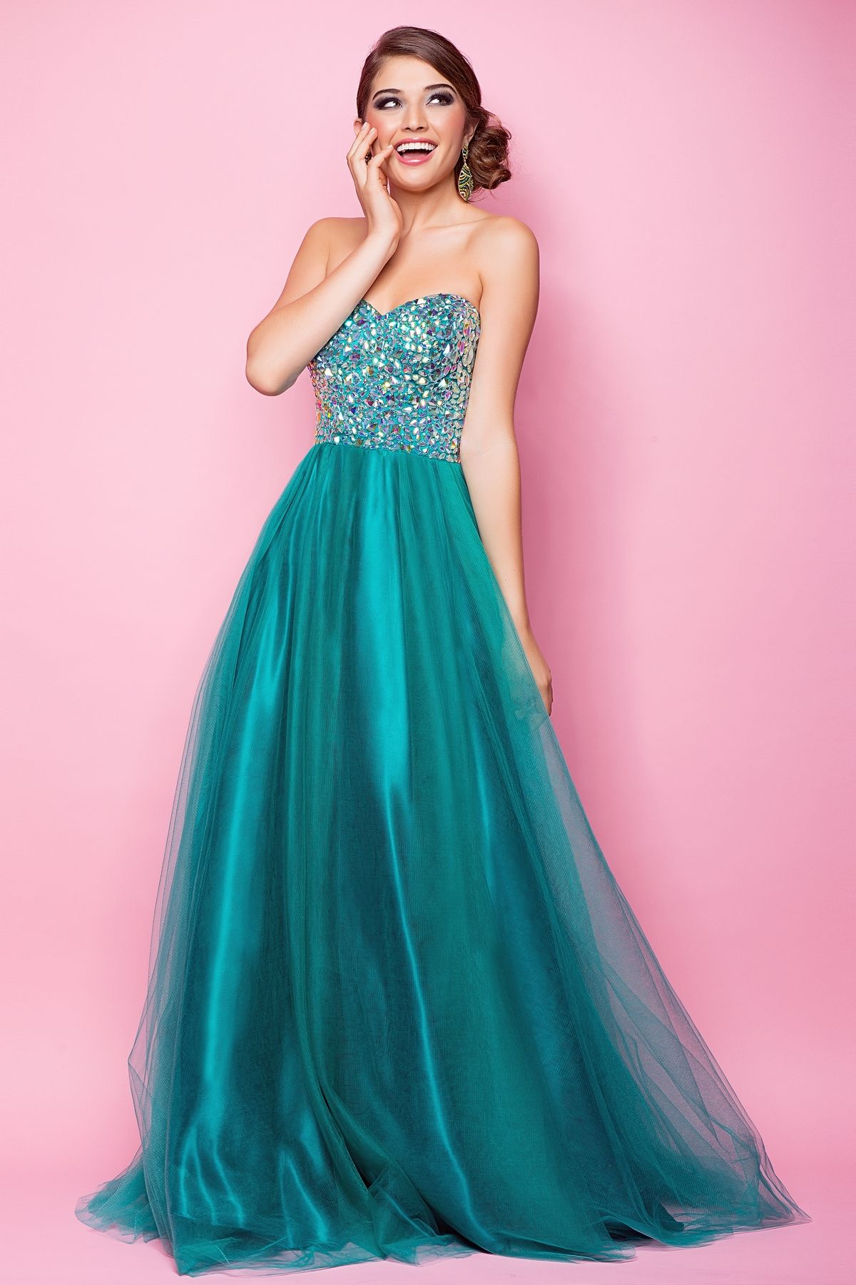 Rock the dance floor in this formal prom dress! This hot ballgown is ...