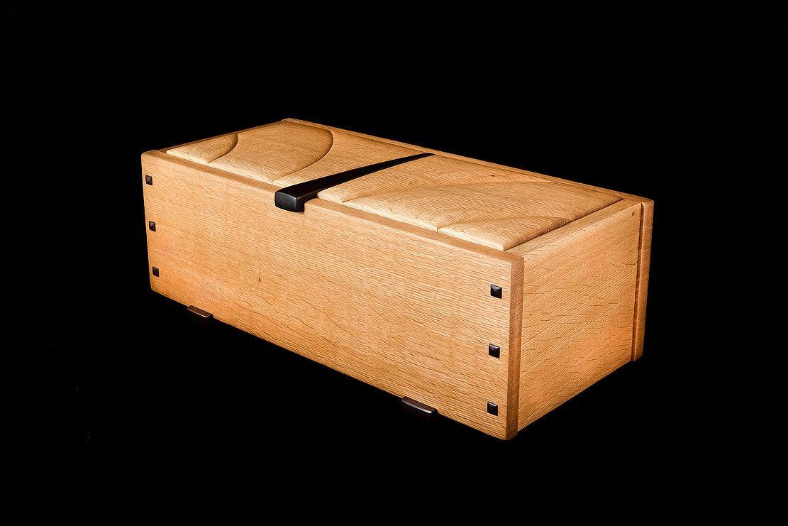 Large Mission style jewelry box Keepsake box made with White Oak