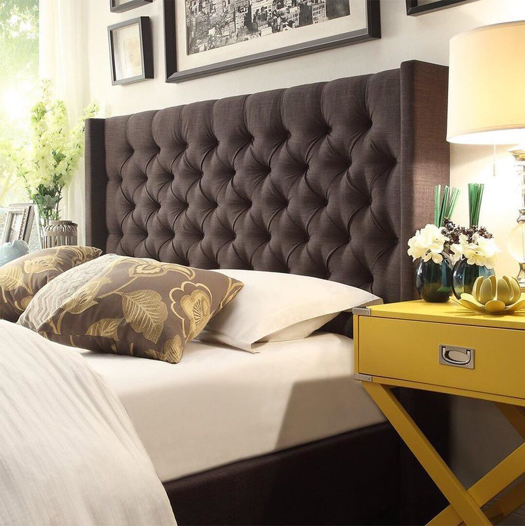 this is the queen of all tufted headboards pair with sunny