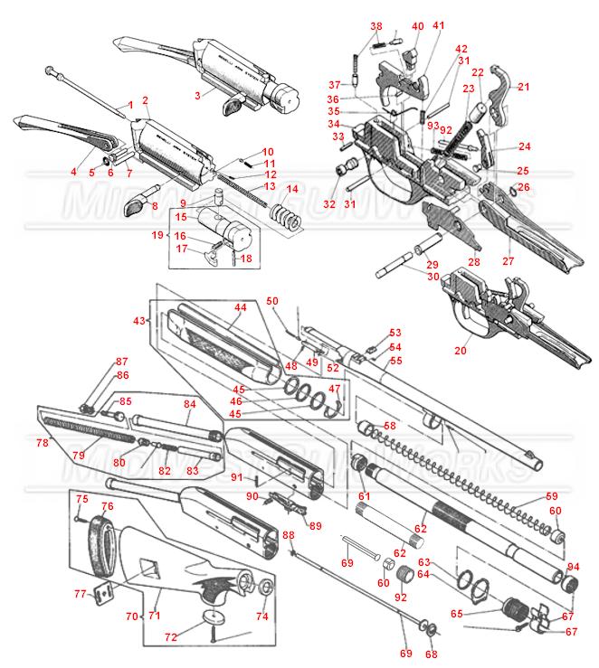 benelli m4 parts diagram