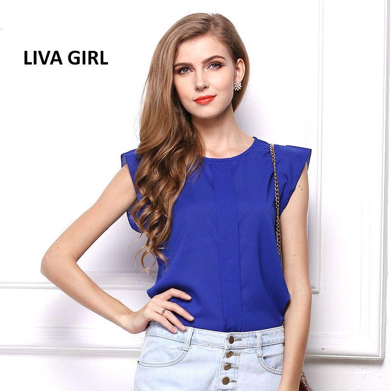 Liva Girl Brand Women's Summer Short Sleeve Chiffon T-Shirts Maxi Jaqueta Feminina Women Tops Blusas Feminina Ver O 2017