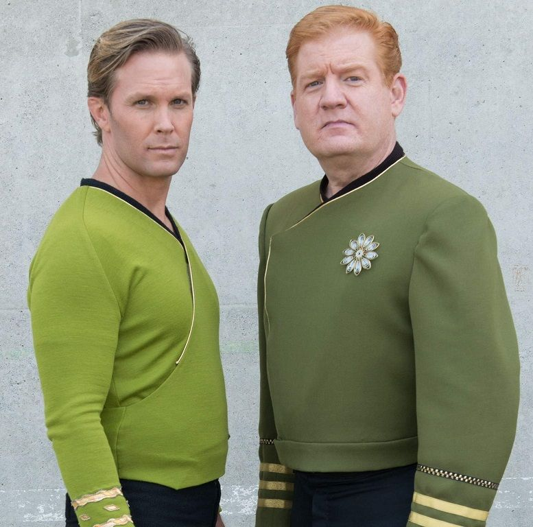 captain kirk and admiral withrow phase 2 star trek continues star trek ships