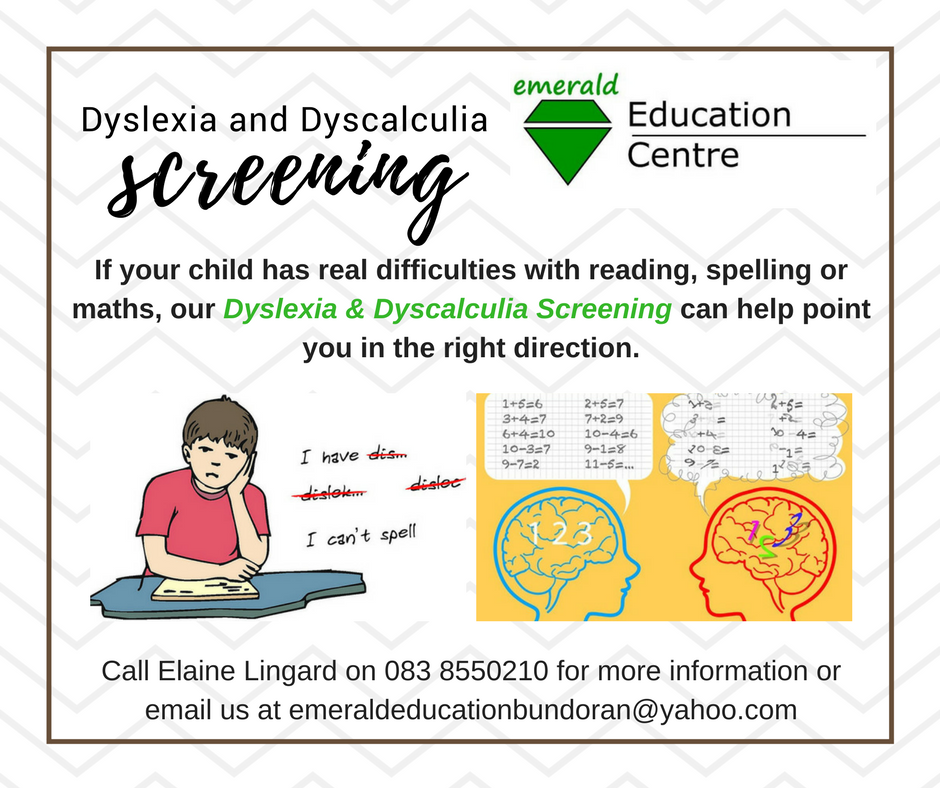 Dyslexia and Dyscalculia screening available online or at ... on