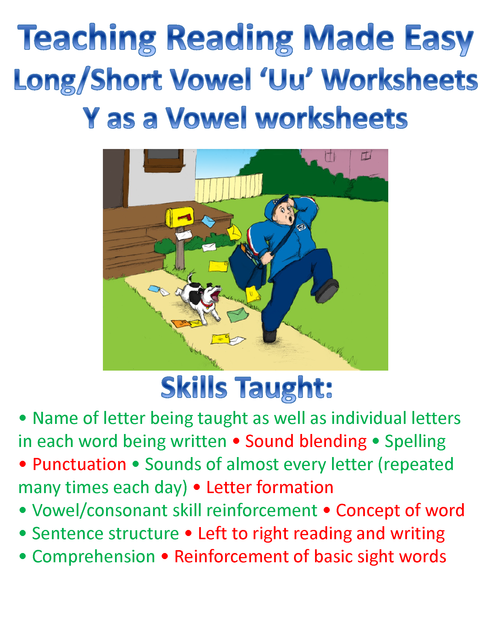 Teach The Vowels Short Long Uu And Y As A Vowel