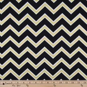 Black & Gold Chevron Apparel Fabric | Fabric Board | Pinterest ...