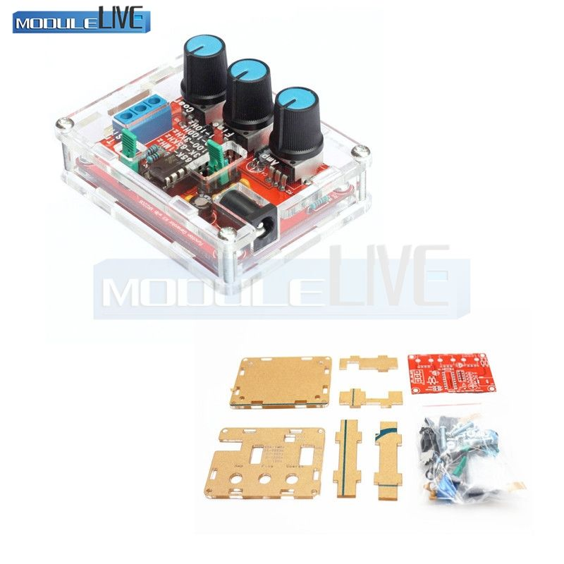 Xr2206 Diy Kit Sine Triangle Square Wave Output 1hz 1mhz Dds Function Signal Generator Adjustable Frequency Amplitude Diy Kits Triangle Square Triangle