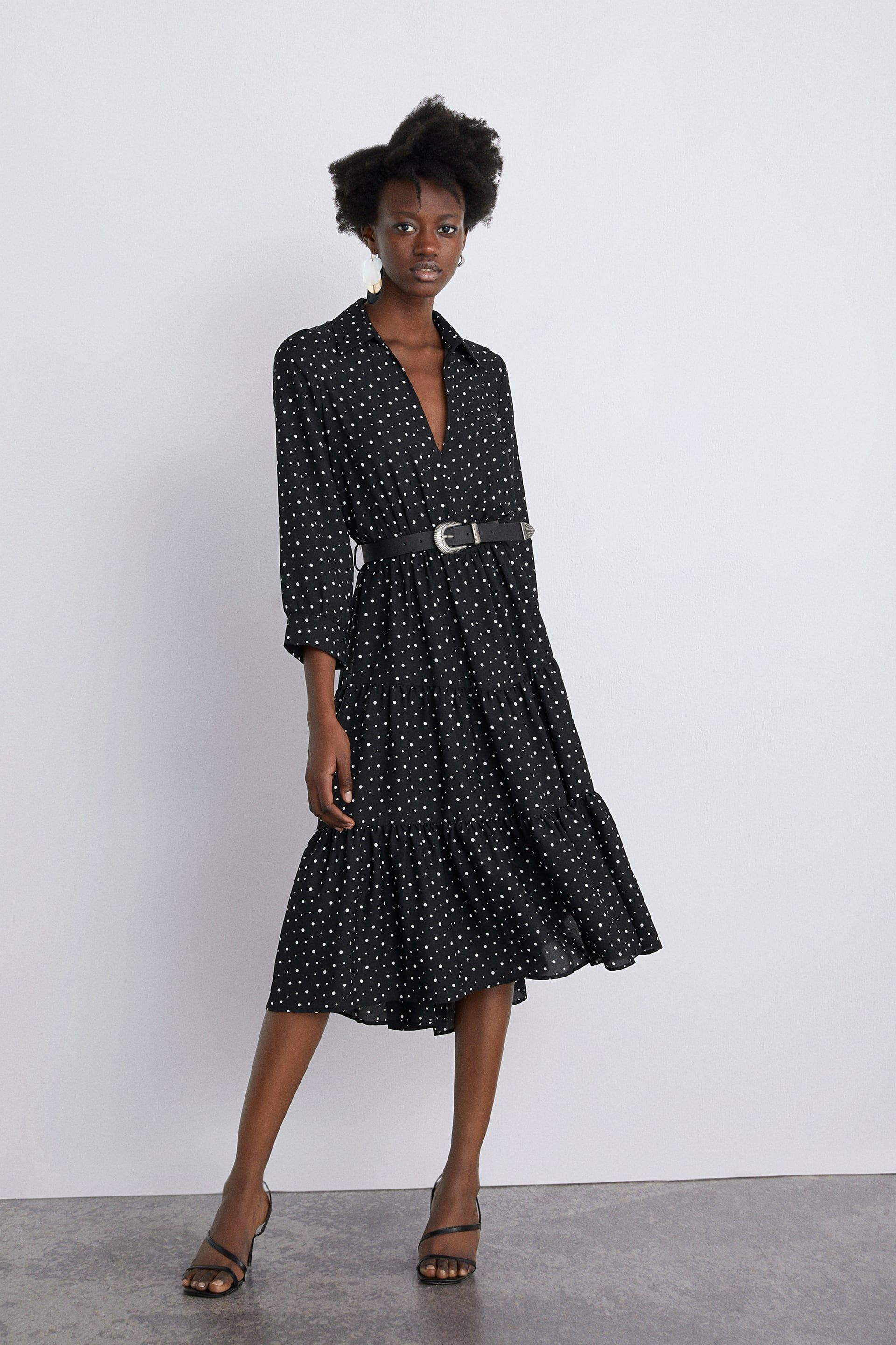 687f68c8b23 Polka dot belt dress in 2019 | Wishlist | Black polka dot dress, Dot ...