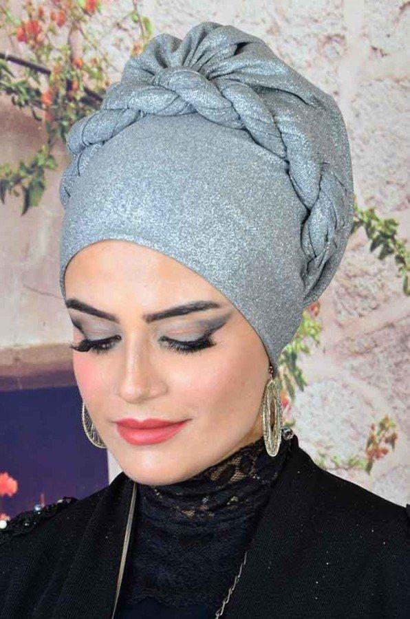 Aişe Tesettür - Gümüş Simli türban modelleri #fascinatorstyles