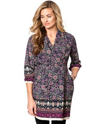 fb1f168cc04f0 Collective Concepts Maternity Floral-Print Pocketed Tunic   Products ...