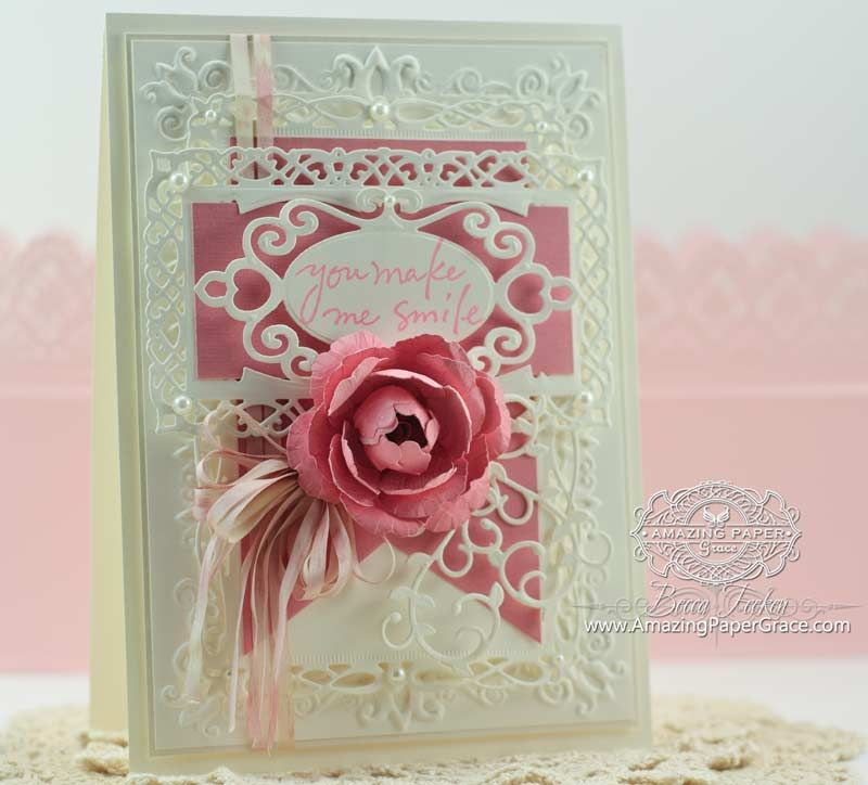 Superb Card Making Ideas Using Dies Part - 7: Card Making Ideas By Becca Feeken Using Spellbinders Create A Rose And  Romantic Rectangles Two