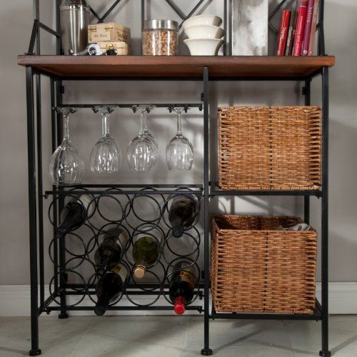 Belham Living Belham Living Solano Bakers Rack With Baskets Black