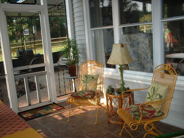 Kronleuchter Kolonial Style : Nothin better than a screened in porch british colonial style