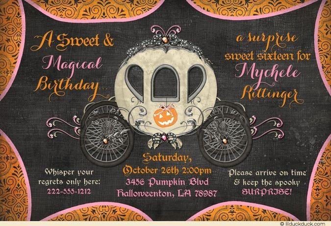 Fairytale Halloween Sweet 16 Invitations - Spooky Magical - sweet 16 halloween party ideas