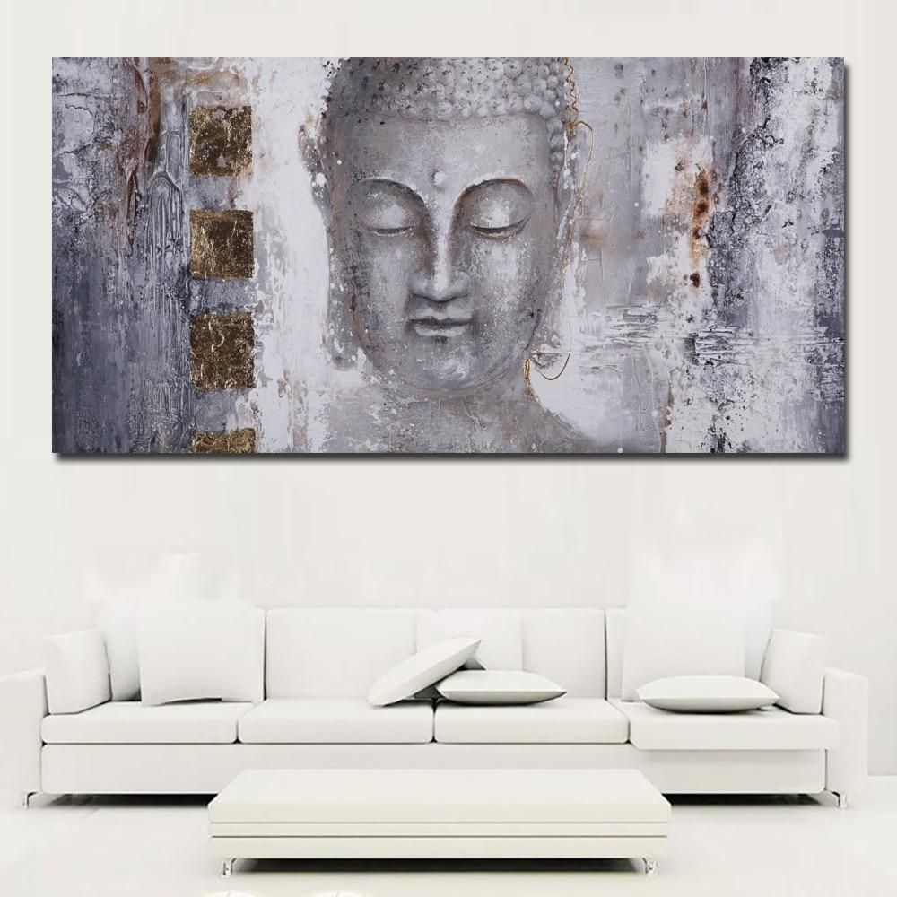 Large Size Abstract Buddha Painting On Canvas Buddha Wall Art Canvases Buddha Painting Canvas Art Prints