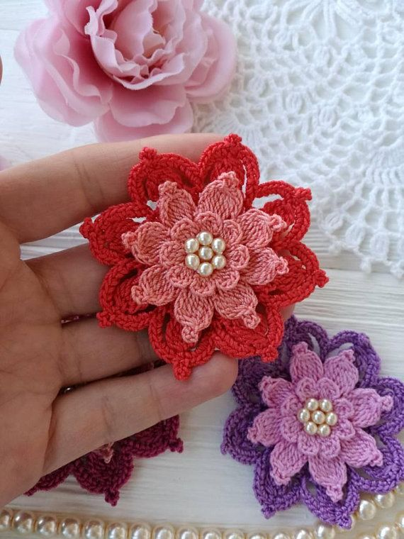 Crochet flower PATTERN | Pinterest | Muster