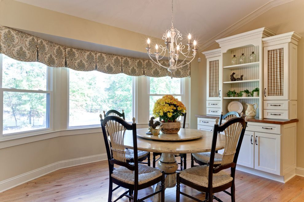 Good Window Valance Ideas Dining Room Farmhouse With Antique White Chandelier  Columns Curtain Panels Custom