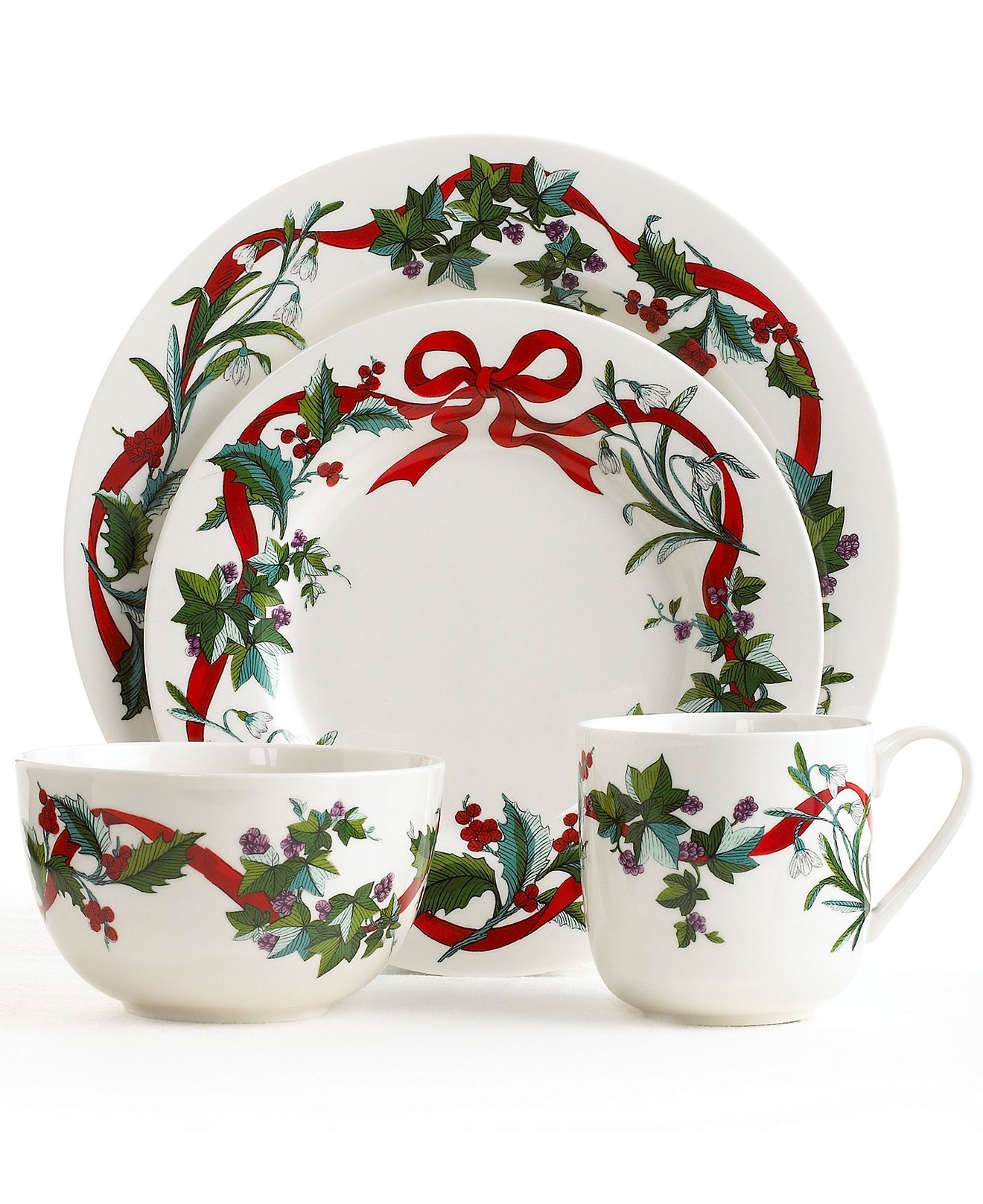 Elegant and festive Holiday Garden dinnerware from Martha Stewart #MarthaMacys #MarthaMacys  sc 1 st  Pinterest & Elegant and festive Holiday Garden dinnerware from Martha Stewart ...