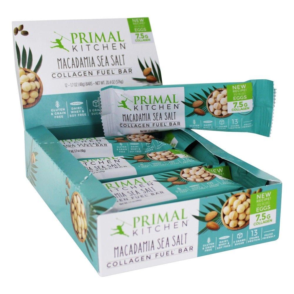 Primal Kitchen Collagen Fuel Bars Box In 2021 Fuel Bar Primal Kitchen Nutrition Bars