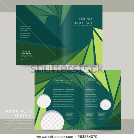 charming half-fold brochure template design with triangle - half fold brochure template