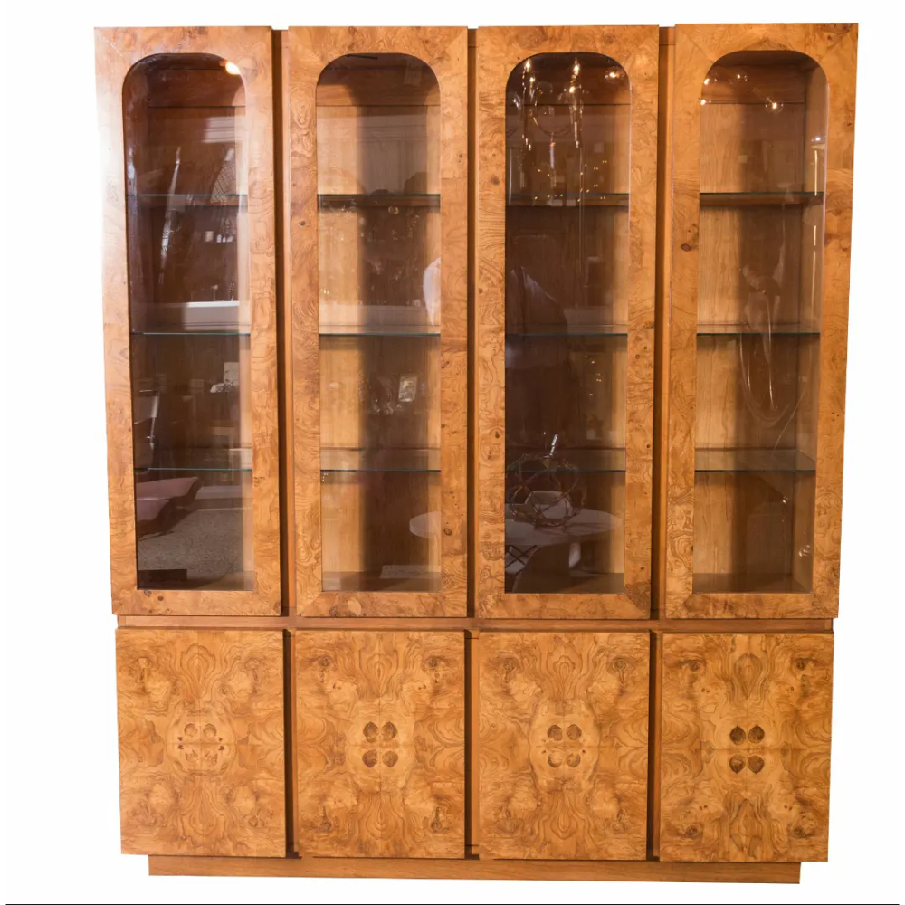 Lane Burl Wood China Cabinet Chairish Burled Wood China Cabinet Modern China Cabinet