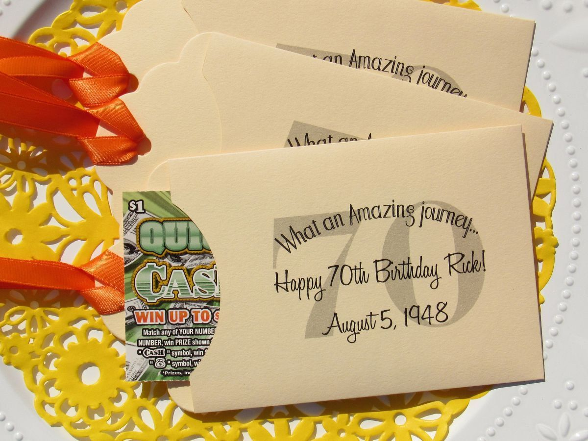 70th Birthday Favors Favors For 70th Birthday Lotto Favors Adult