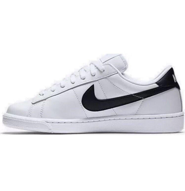 Nike Women S Tennis Classic Size 8 Shoes White Black Leather 312498 130 Nike Tennis Nike Leather Nike Women Nike