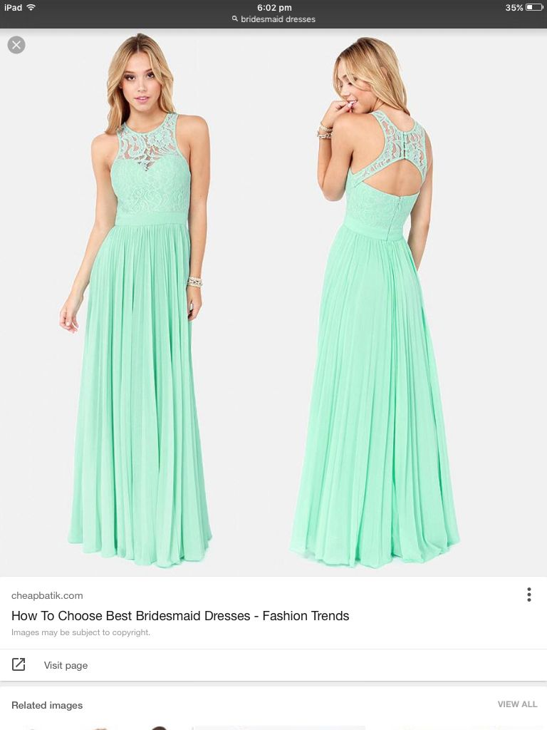 This dress would be nice for a braid maid dress for a prom dress