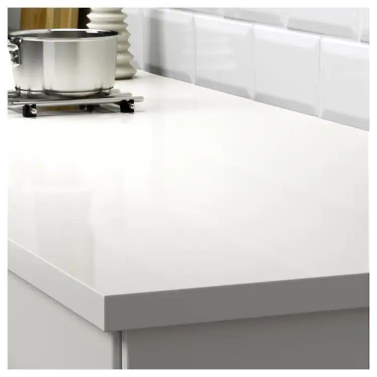 Ekbacken Plan De Travail Sur Mesure Blanc Brillant Stratifie 45 Ikea Stratifie Plan De Travail Plan De Travail Stratifie