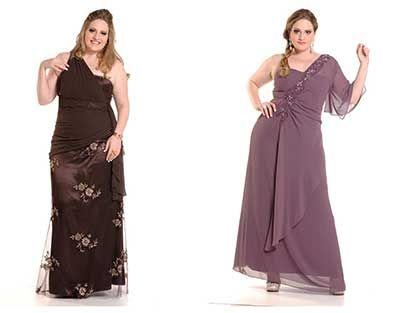 Vestido social plus size barato