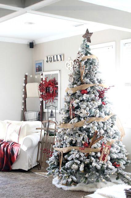 rustic plaid christmas tree - Rustic Plaid Christmas Decor