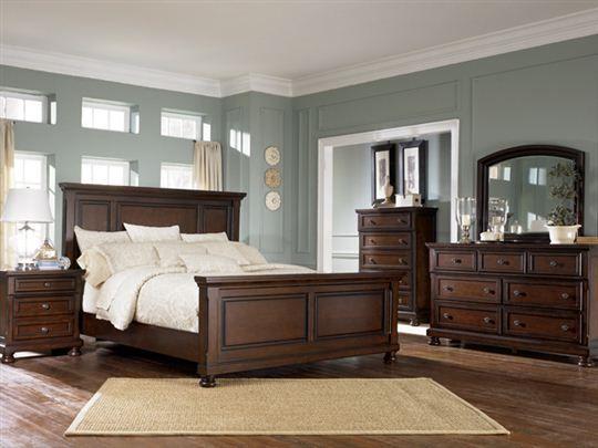 Porter Queen Panel Bedroom Set | Dark wood, Bedrooms and Furniture ...